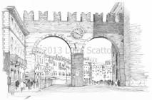 1 - I Portoni della Bra (Gates of Bra), view from Corso di Porta Nuova