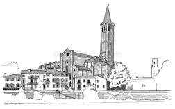 Santa Anastasia Church, view from Lungadige Re Teodorico