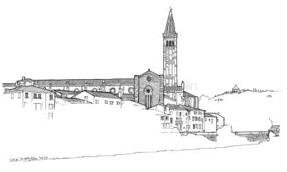 Santa Anastasia church, view from Ponte Nuovo