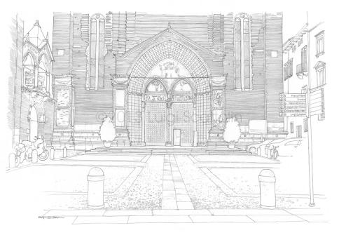Santa Anastasia church, entrance