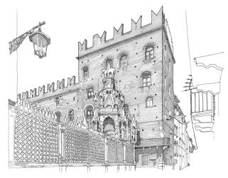 The Arche Scaligere and the Palazzo del Governo