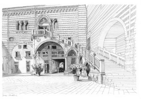 21 - Cortile Mercato Vecchio, Scala della Ragione