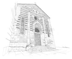 Lungadige San Giorgio, the beautifull S. Stefano church