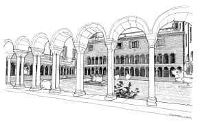 The Duomo Area, the cloister.