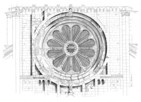 41- Basilica of San Zeno, the rose window