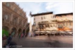Verona, Piazza delle Erbe, Palazzo Maffei e Case Mazzanti