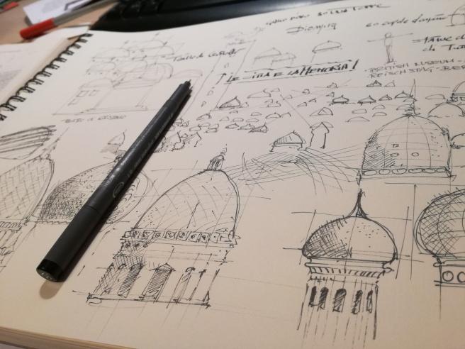 Le Città Invisibili - Diomira, studio per le cupole